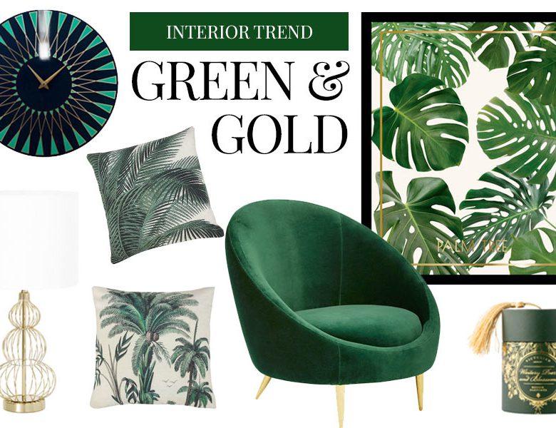 green grün Interior Design Trend gold