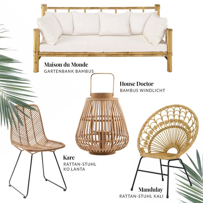 bambus rattan trendmöbel