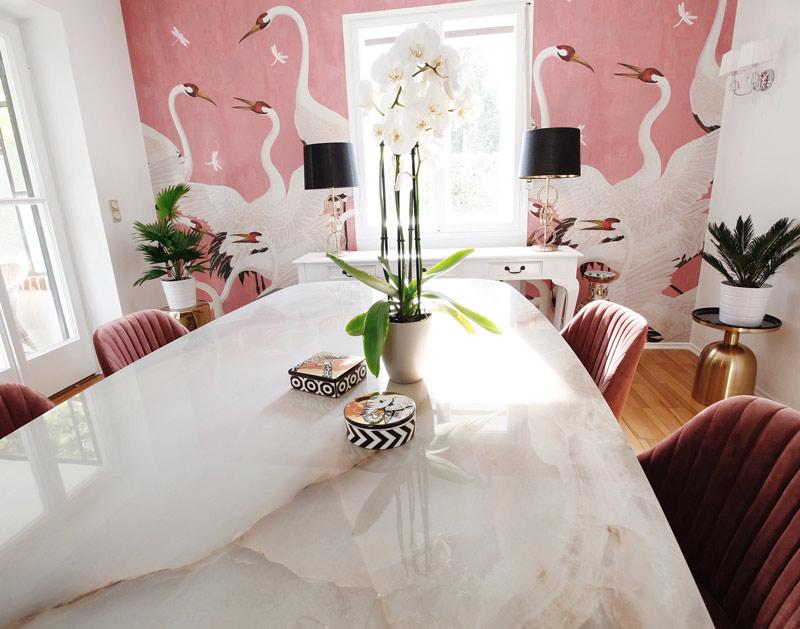 Gucci Decor Tapete Wohnzimmer Ideen