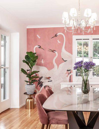 Gucci Decor Heron Wallpaper Tapete pink Trend