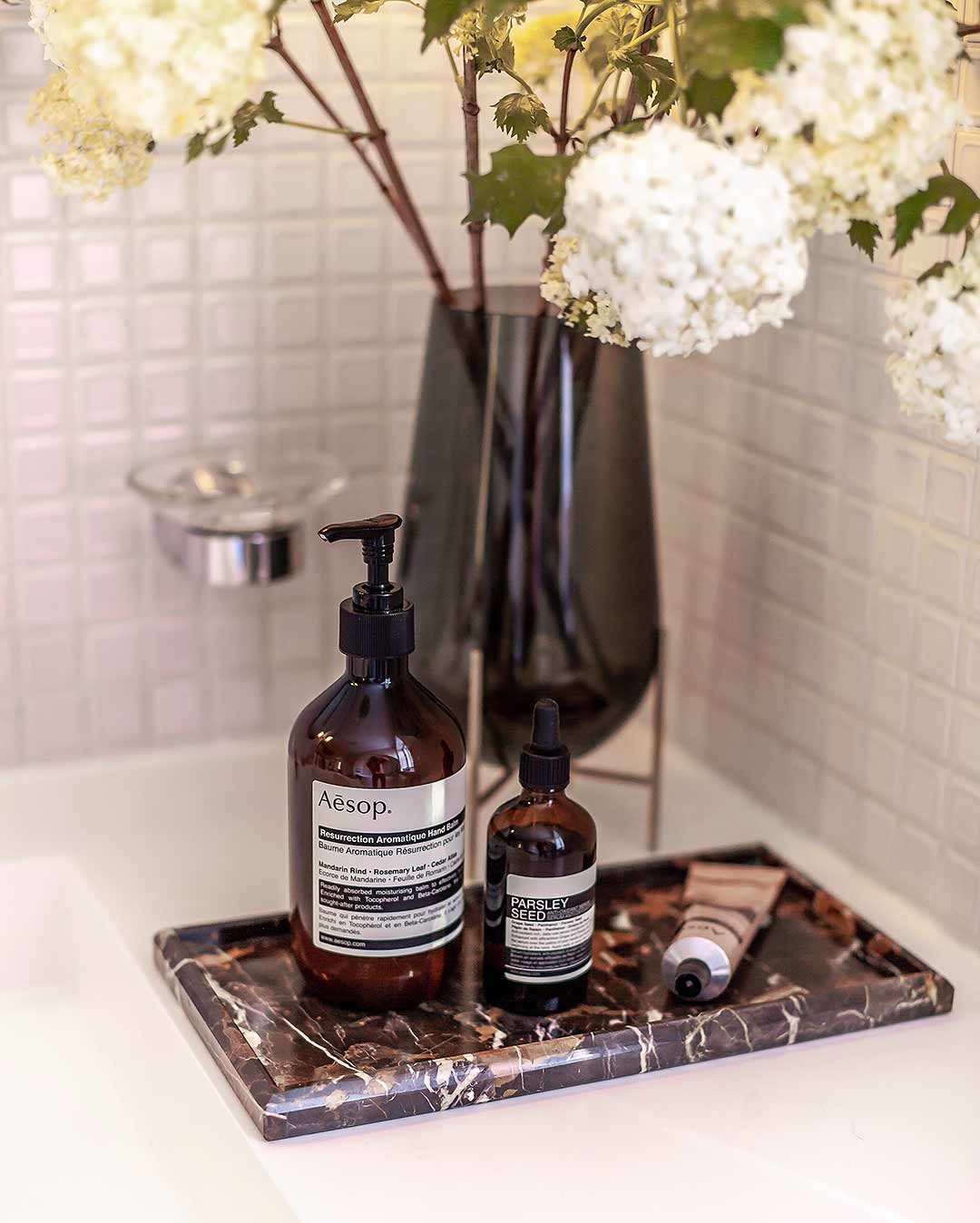 All about my AESOP skincare shelf / parsleyseed / interior by Katarina Fischer - Editionnoire.com
