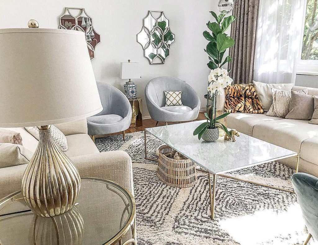 Interior Design Katarina Fischer - EditionNoire, Jonathan Adler, Animal Prints, Marble Table