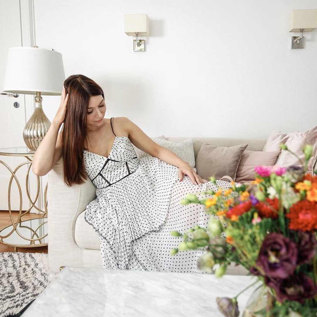 Selfportrait polkadots dress blogger EditionNoire