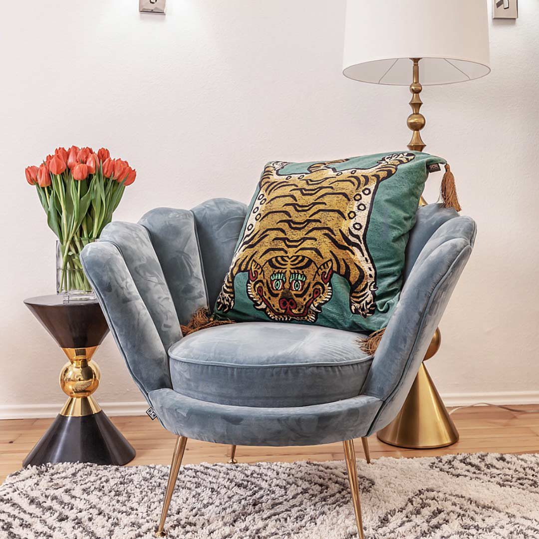 Letting the tiger out: Tiger Cushions from HouseOfHackney / Interior by Katarina Fischer www.editionnoire.com