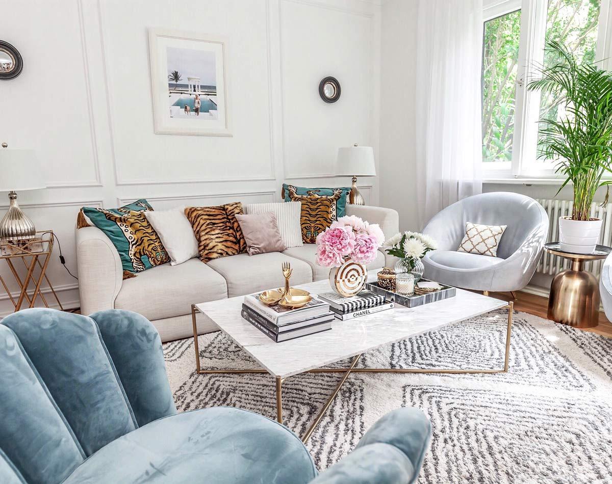 living room palm spring decor summer